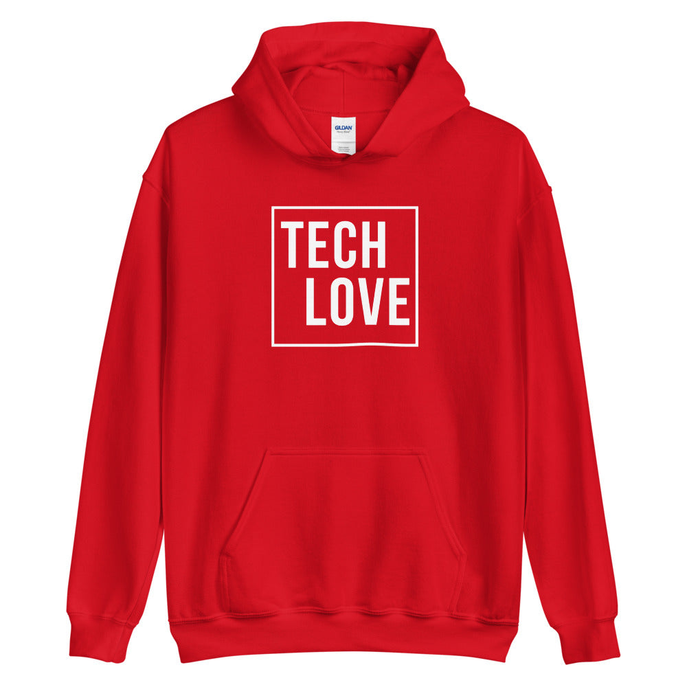Tech Love Hoodie Red
