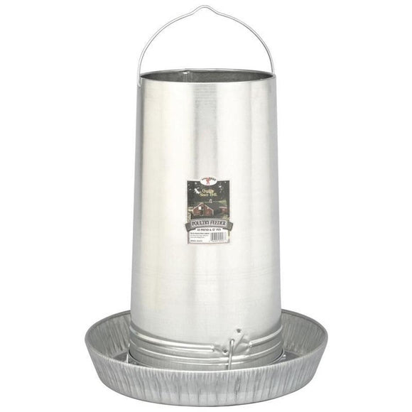 LITTLE GIANT HANGING POULTRY FEEDER W/PAN GALV