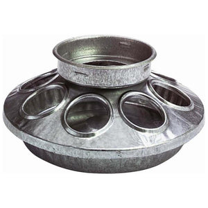 LITTLE GIANT ROUND JAR POULTRY FEEDER BASE GALV