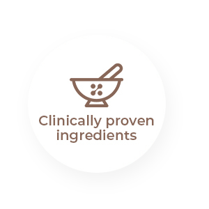 Clinically proven ingredients