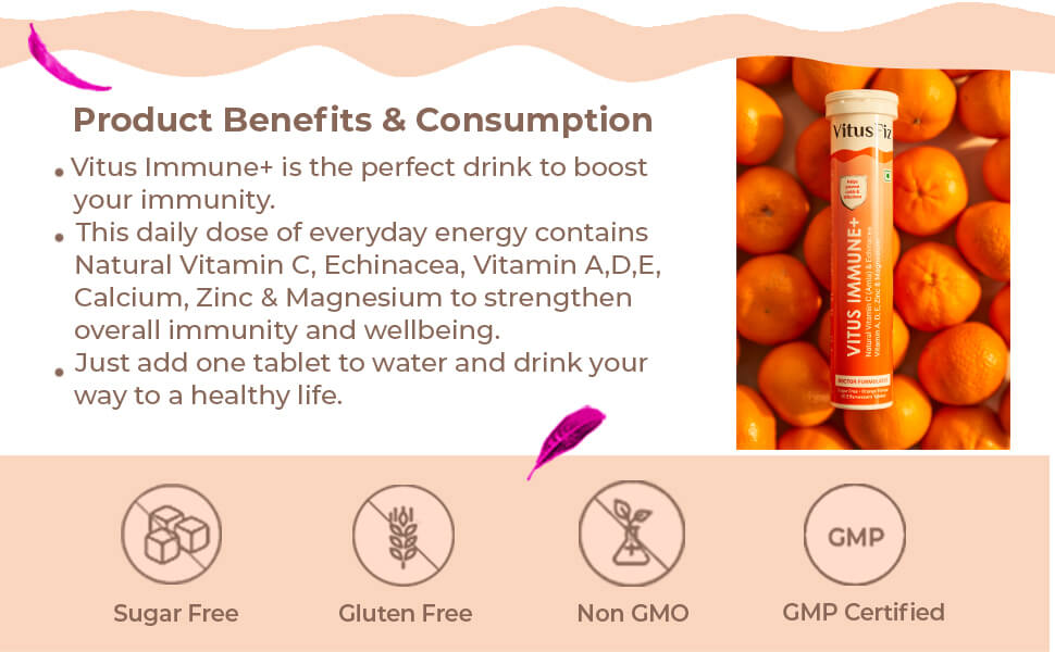 Product Benefits & Consumption Vitus Immunet+ is the perfect drink to boost your immunity