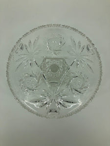 "Glass 12"" Round Star Cake Plate"
