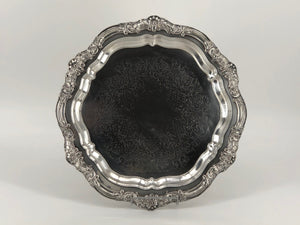 Silver Tray - Ornate Hex 16""