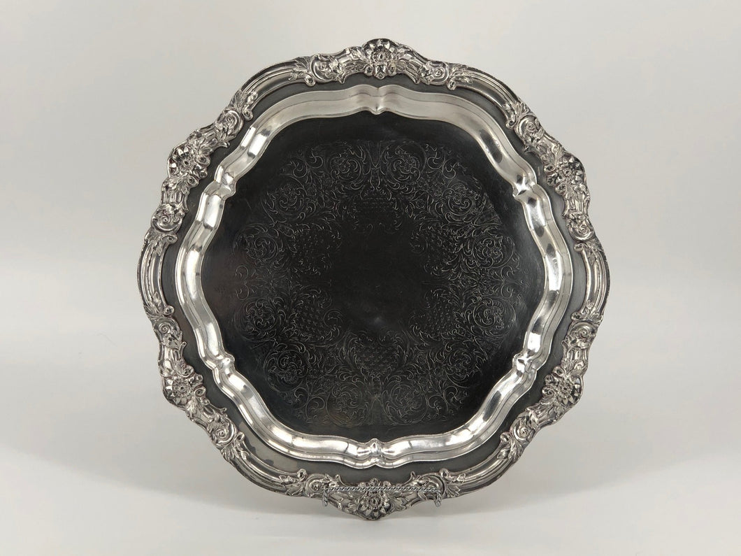 Silver Tray - Ornate Hex 16