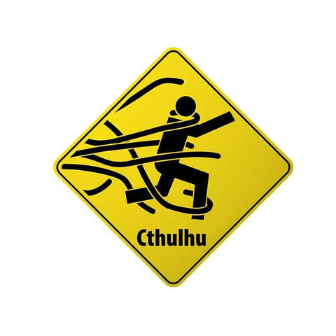 Sticker Cthulhu Warning