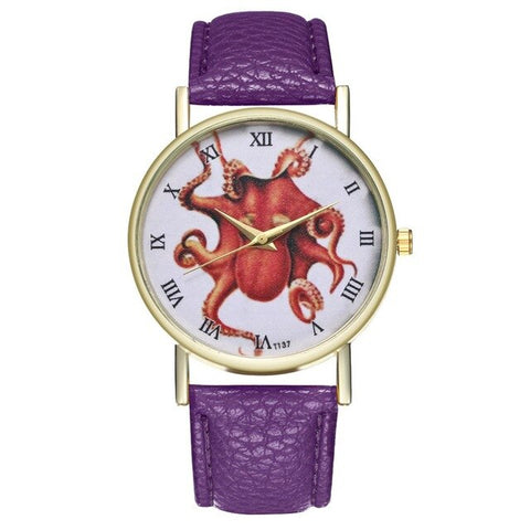 Montre Cthulhu Octopus Rouge