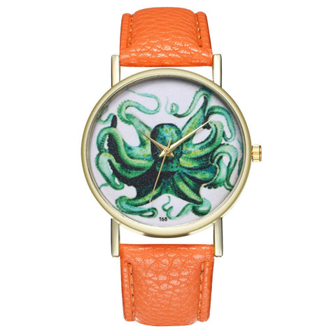 Montre Cthulhu Octopus Turquoise