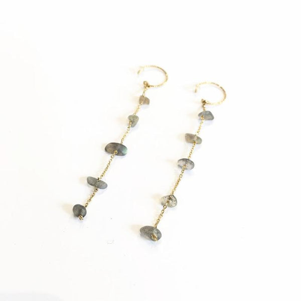 Nirvana Earrings Labradorite