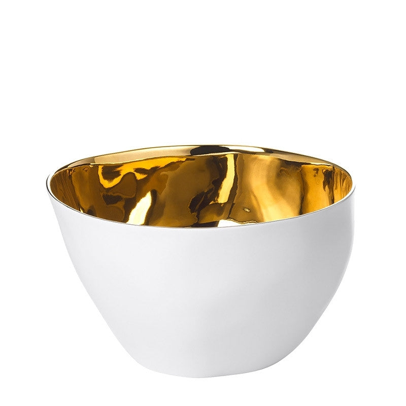 Gold Famished Bowl Medium
