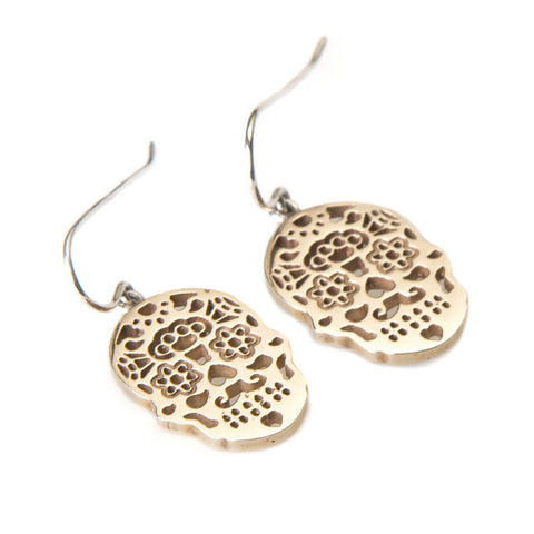 Calavera 9ct Yellow Gold Earrings