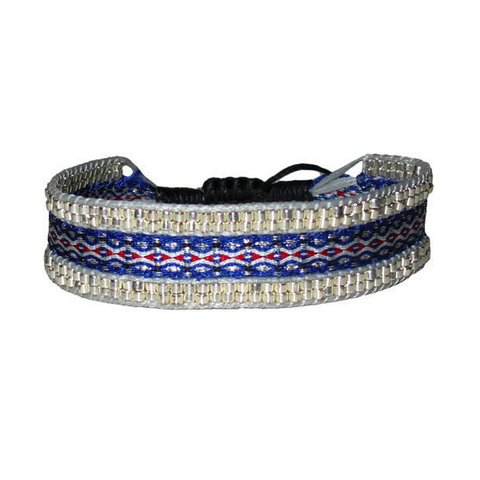 Creta Bracelet - Blue with Mixed Diamonds