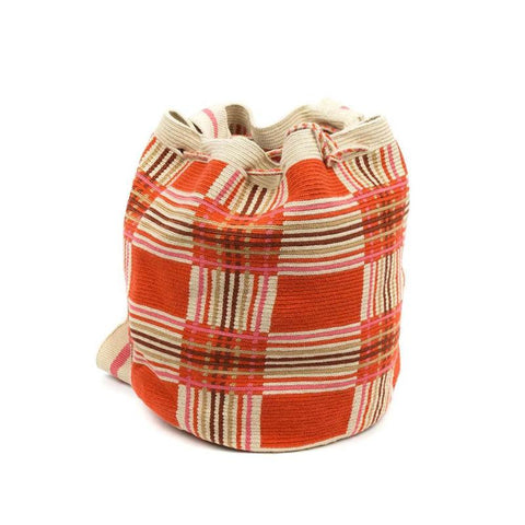 Wayuu Medium Bag - Orange & Cream
