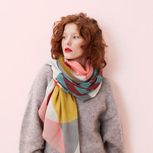 Load image into Gallery viewer, Iris Coral Wool Scarf