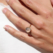 Load image into Gallery viewer, Pom Crystal Ring Nude Pink