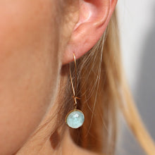 Load image into Gallery viewer, Pom Crystal Earrings Long Light Blue