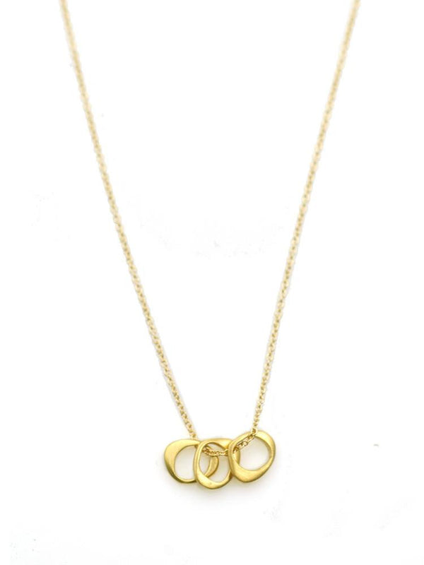 Three Tiny Circles Necklace - Gold Vermeil