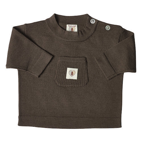 Pure Merino Top - Chocolate Brown