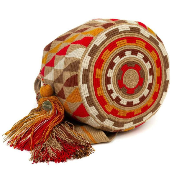 Wayuu Medium Bag - Orange, Red & Brown