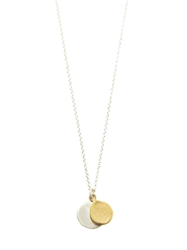 Double Pebble Silver & Vermeil Necklace