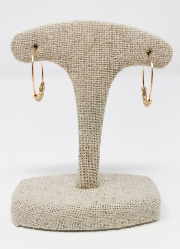 Gold Mini Hoop Cluster Earrings