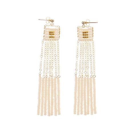 Kisongo Long Pendant Earrings with Tassels
