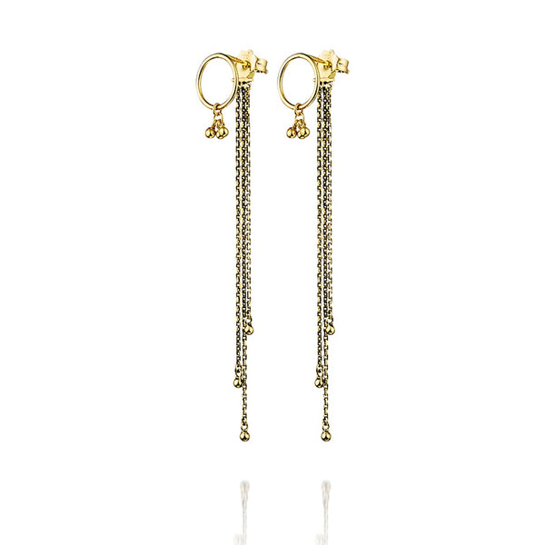 Earrings Antique Gold Chain