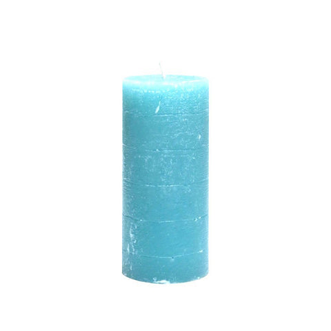 Pillar Candle 13cm- Aqua Blue