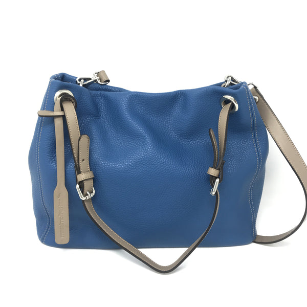 Adria Shoulder Bag Blue with Taupe
