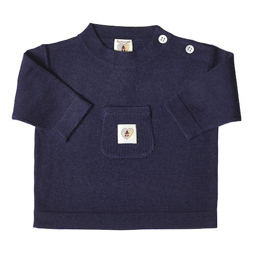 Pure Merino Top - French Navy
