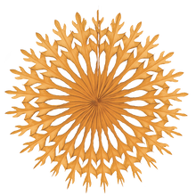 Load image into Gallery viewer, Snowflake Decoration Golden Orange