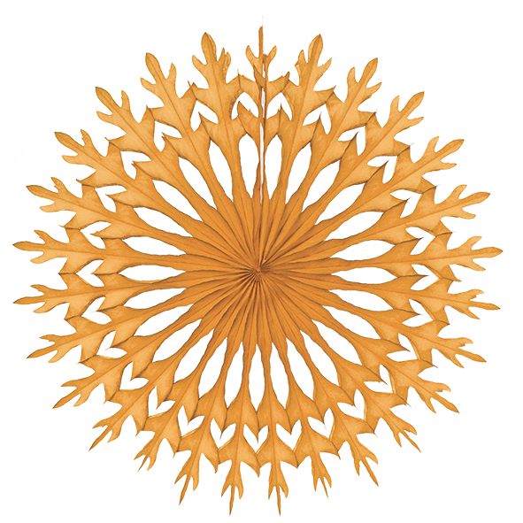 Snowflake Decoration Golden Orange