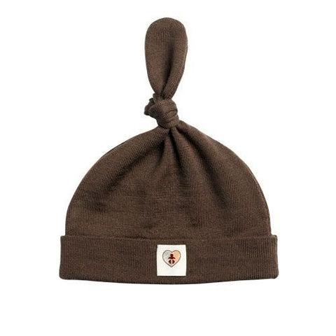 Pure Merino Beanie - Chocolate Brown