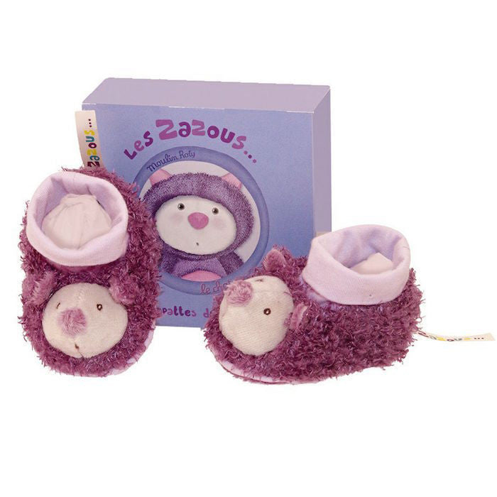Les Zazous Cat Baby Slippers