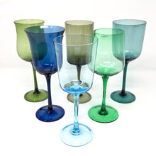 Load image into Gallery viewer, Desigual Wine Glasses Blue & Green Mix