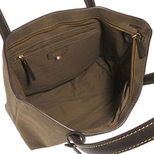 Load image into Gallery viewer, Eden Nubuck Leather Bag Khaki & Chocolate