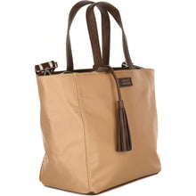 Load image into Gallery viewer, Small Nylon Parisian Tote Bag Beige