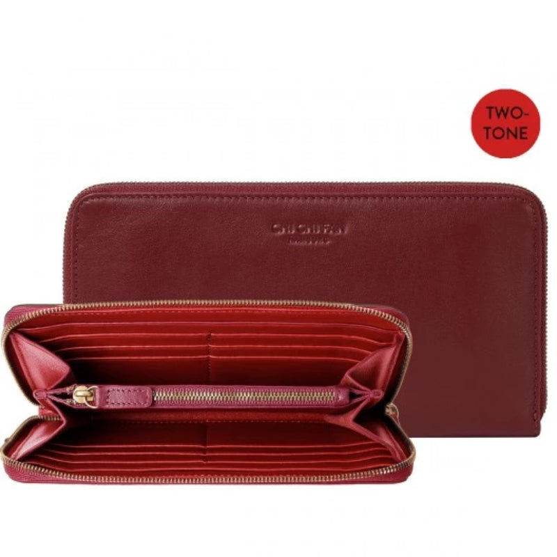 Classic Wallet Slim Two Tone Plum
