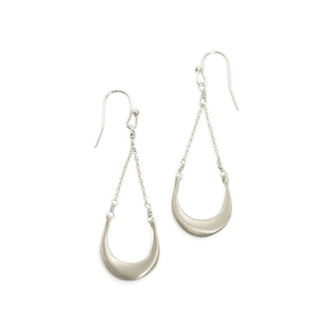 Crescent silver earings