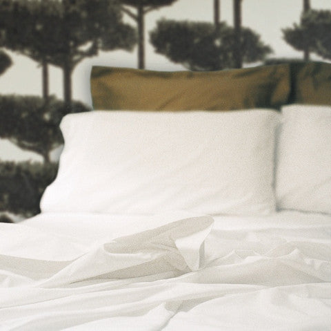 White Egyptian Cotton Flat Sheet