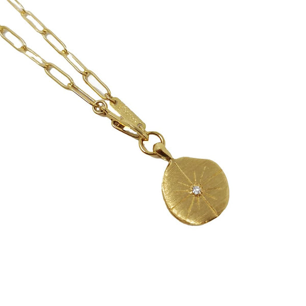 Falcon Multiposition Sun Medallion Necklace