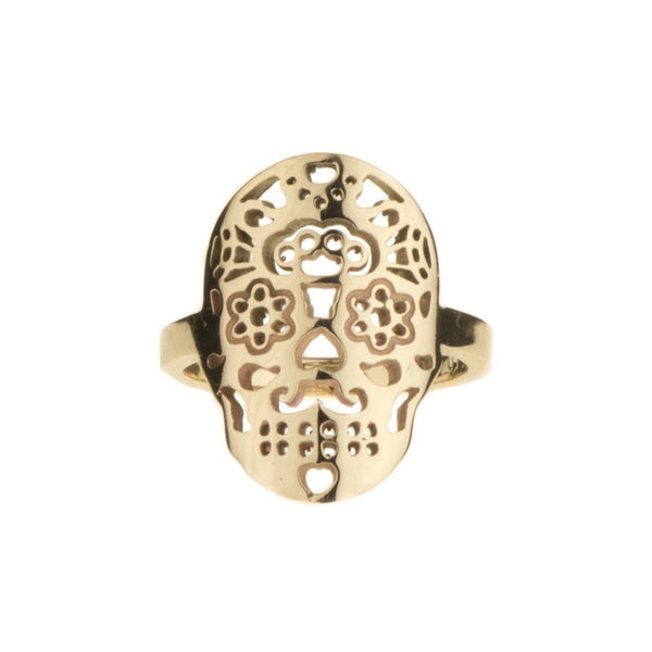 Calavera 9ct Yellow Gold Ring