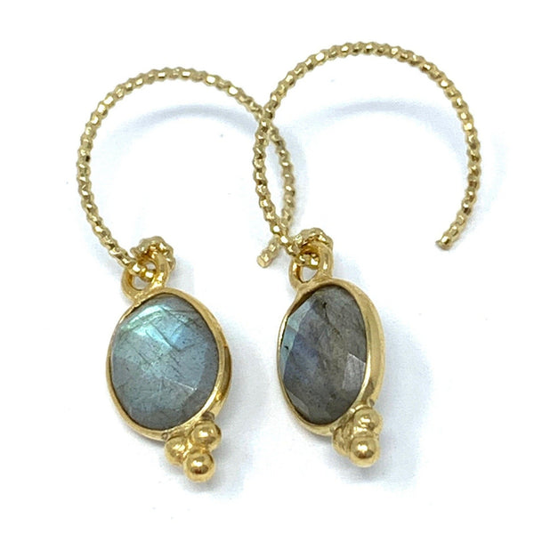 Aura Earrings Labradorite
