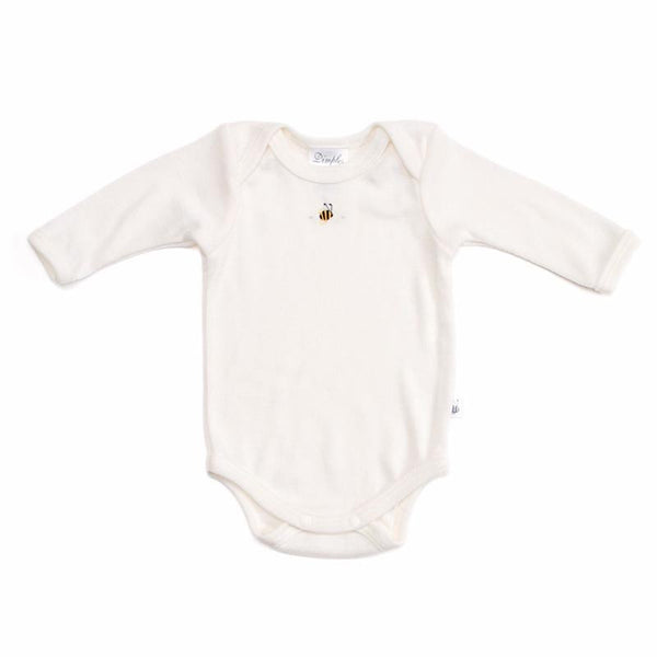 Merino Bodysuit Cream Bee
