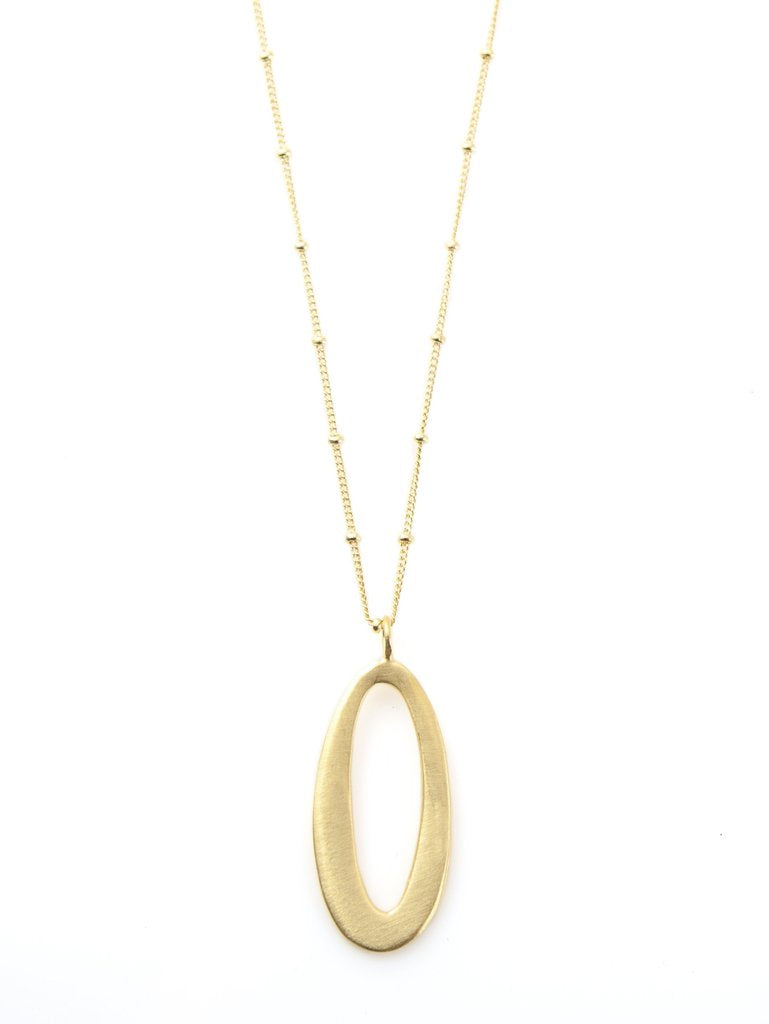 Medium Oval Vermeil Necklace
