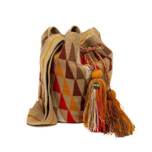 Load image into Gallery viewer, Wayuu Medium Bag - Orange, Red & Brown