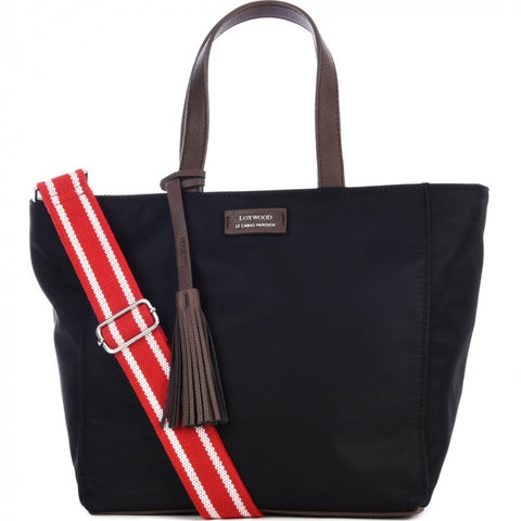 Small Nylon Parisian Tote Bag - Black