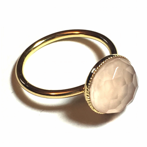 Pom Crystal Ring Nude Pink