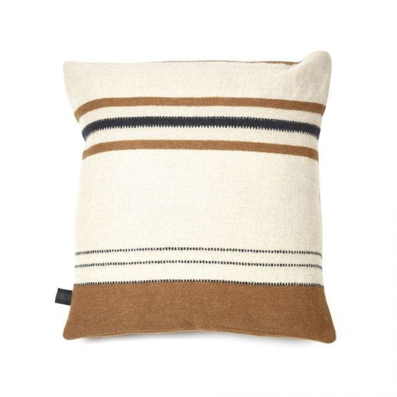 Foundry Cushion Beeswax Stripe