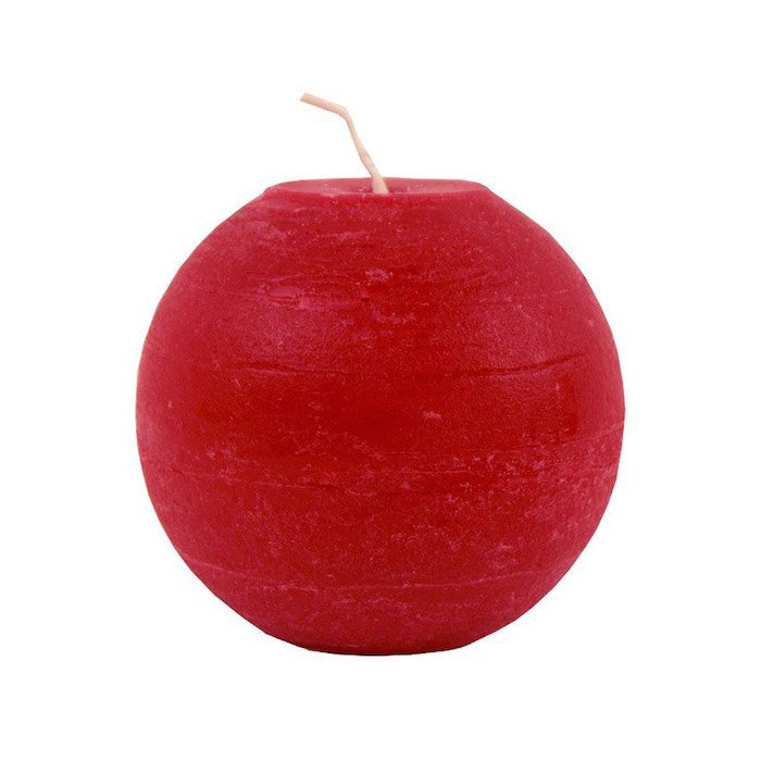 Ball Candle 10cm - Red
