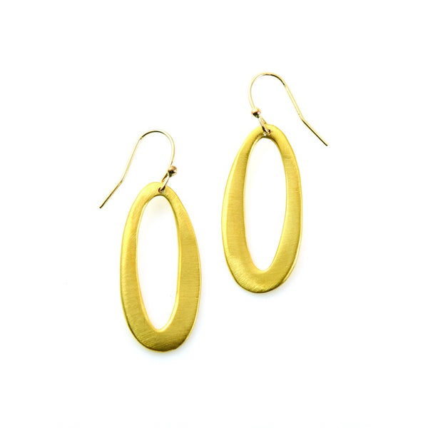 Medium Oval Vermeil Earrings